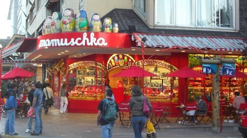 One of the Chocolate shops