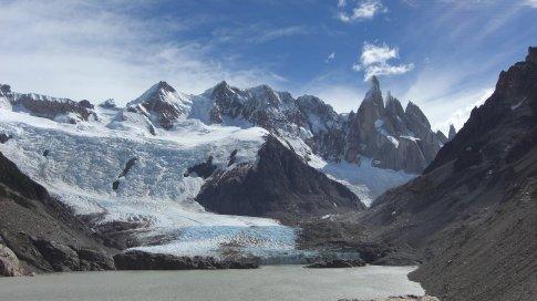 Cerro Torres, and a glacier