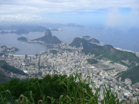 The view from the Corcovado Mountain