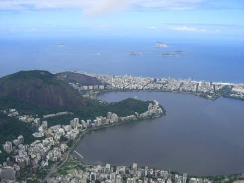 The view from Corcovado Mountain towards Ipanema