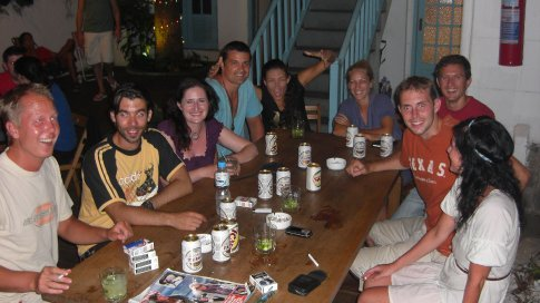 Travellers from The Mango Tree Hostel