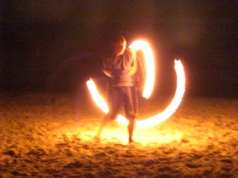 Beach party...and Carl the twisted fire starter