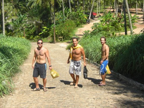 Yaron, Ron and Eyal hitting yet another beach....