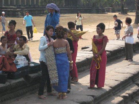wedding party at Angkor Wat