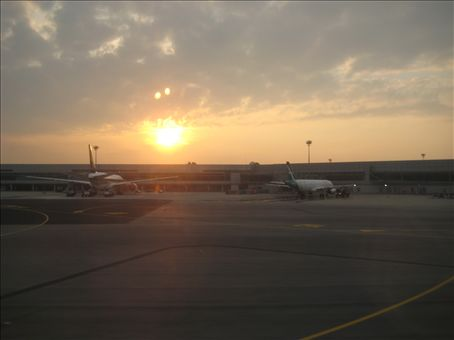 Sunrise over Changi Airport