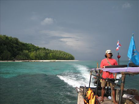 Outrunning the storm, Andaman Sea
