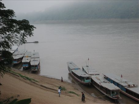 Morning mist on the Mekong