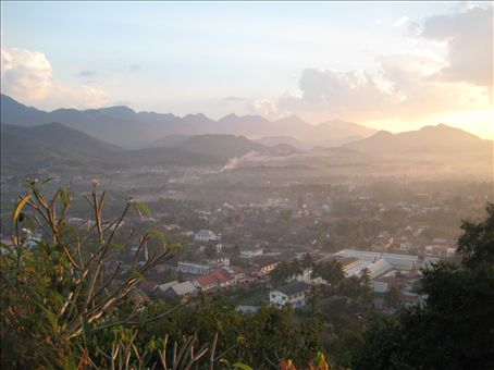 View of Luang Prabang from Phou Si hill