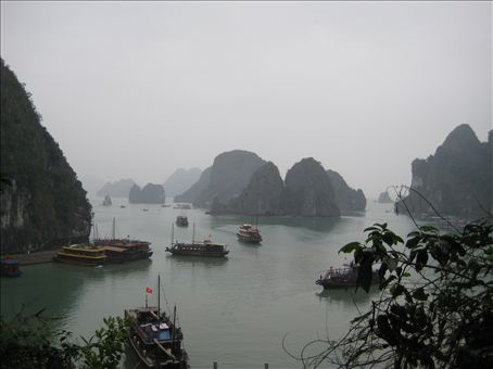 Ha Long Bay in grey