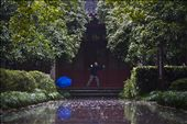 A man practices Tai Chi at a temple in the West Lake district of Hangzhou, China: by justinparsons, Views[266]