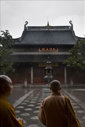 An older monk guides a young monk through Longhua Temple, Shanghai, China: by justinparsons, Views[189]