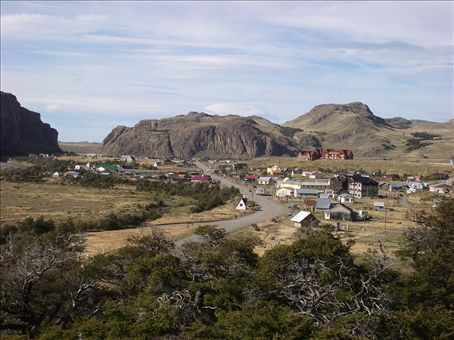 View of El Chalten town where we started our trek - it`s straight out of a Spaghetti Western