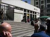 A typical bank in La Paz guarded by a large number of shotguns: by justinzani, Views[166]