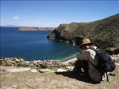 Sitting in the Inca Ruins for lunch on the Isla Del Sol.  The place was a complete labarynth: by justinzani, Views[242]