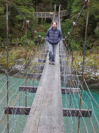 Bridge on the way to the Blue Pools