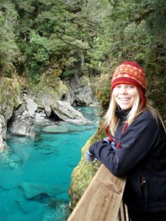 The incredible colour of the Blue Pools near the Haast Pass