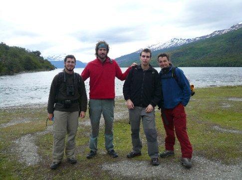 Con Xavi e Iván, dos compañeros de treking de Sabadell, por el Parque Nacional Tierra del Fuego