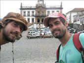 Mathieu y yo en la plaza principal de Ouro Preto: by k-lero, Views[504]
