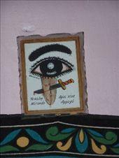 Inquietantes carteles de Santería en la inquietante casa en la que nos alojamos...: by k-lero, Views[1111]