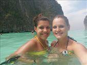 kaitie and caroline at Maya beach..THE BEACH from