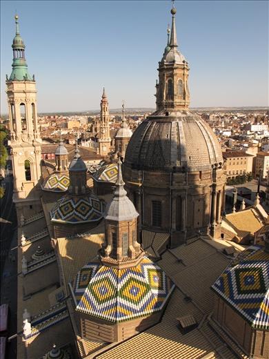 The view over Zaragoza