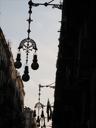 Ridiculously beautiful light fixtures in Barcelona