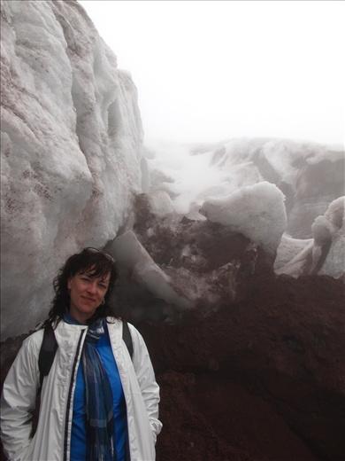 Inside the Cotopaxi glacier