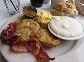 Fried green tomato breakfast at EAT New Orleans: by kaitlynfaebarrett, Views[130]