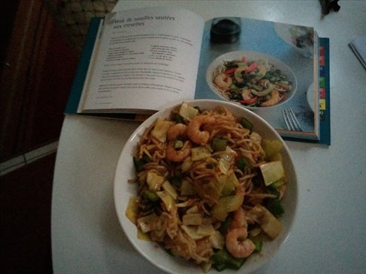 Recipe & cooked meal