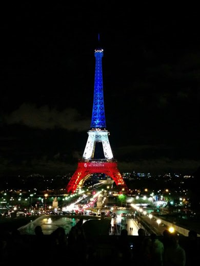Eiffel Tower Tricolor