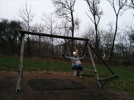 We found a swing!