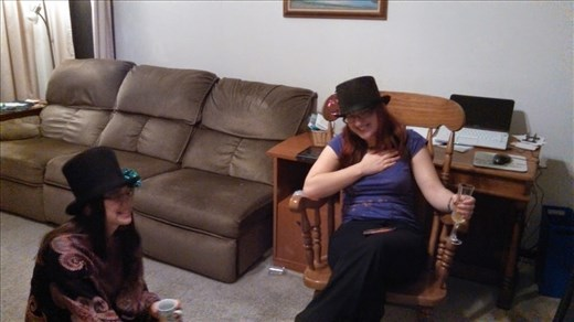 Me and my sister in hats