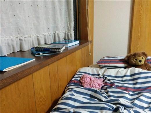 My bed and windowsill