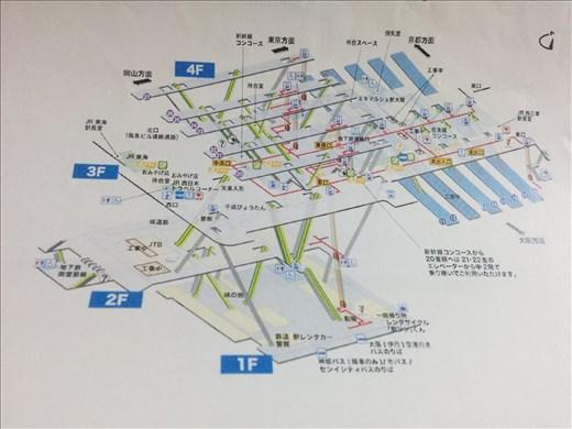 Shin-Osaka station Map