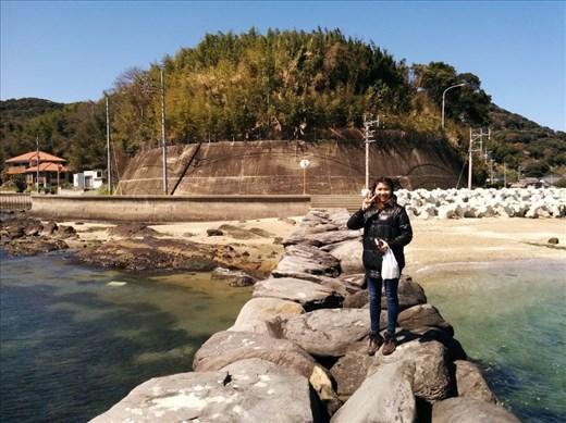 Rachel on a pier