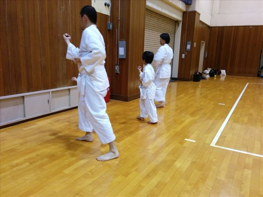 Host family at karate