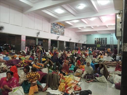 Delhi railway station waiting area