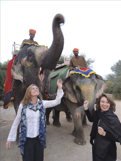 Elephant ride to tribal council