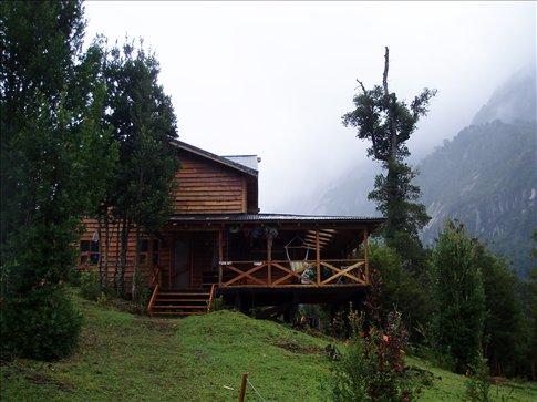das Refugio am morgen nach dem Regen