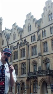 Ginger man in front of an original building (London): by kate_holla86, Views[89]
