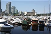 Three unique house boats in the Vancouver harbor.: by katharina, Views[163]