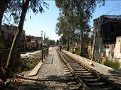 People walking along the train line in Jianshui: by katherinestapleton, Views[164]