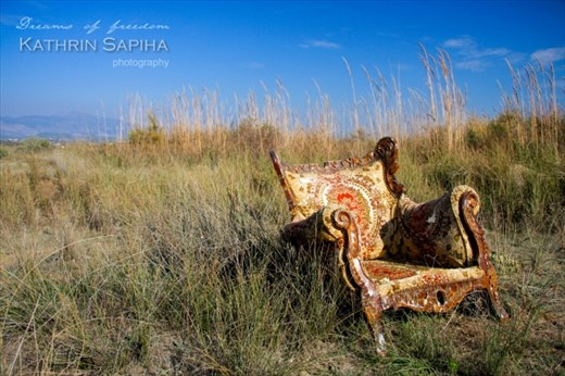 Just a chair in the middle of nowhere.