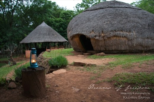The hut at a Zulu village I spent the night in.