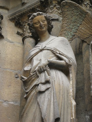 The smiling angel of Reims.