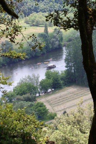View of the Dordogne river.
