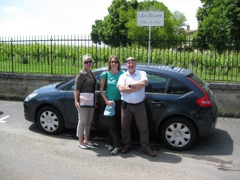 The three drivers of the Citreon car or as Ian prefers, to be known as Jean Claude and his french women.