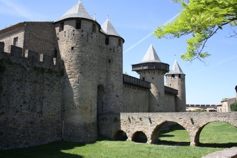 The medieval city of Carcasonne.