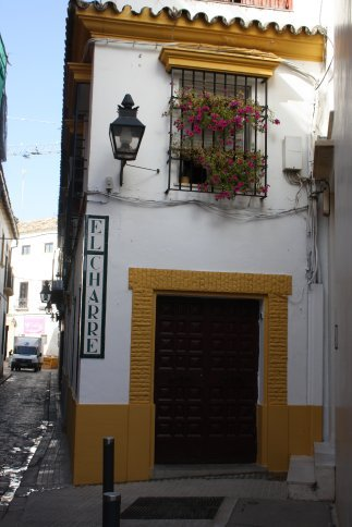 Buidling in Jewish section of Cordoba old city.