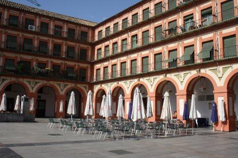 Plaza Mayor, Cordoba, 5.45 pm Wednesday 17 June.